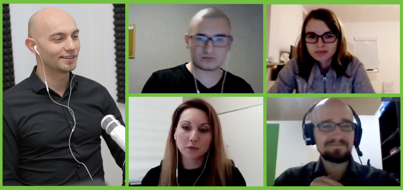 Real Talk Show Live Konferenz mit Teilnehmern