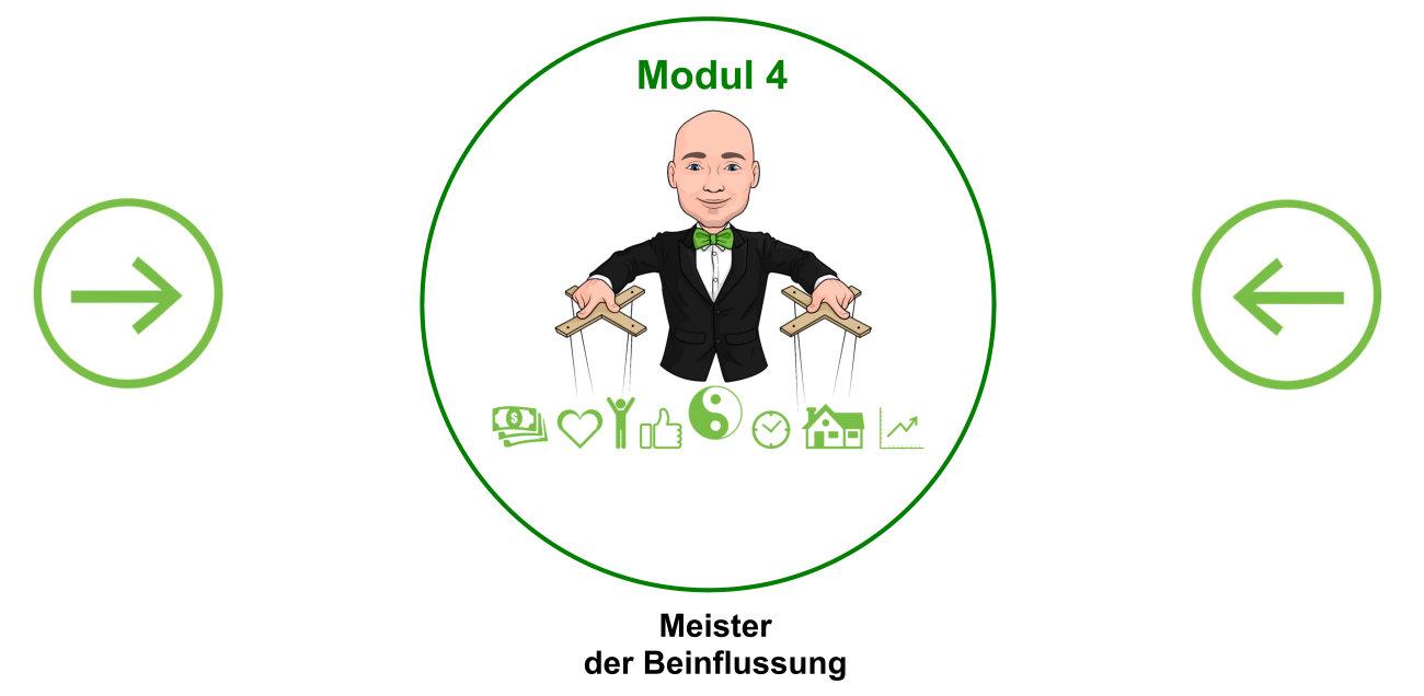 Modul 4 mit Pfeil - Meister der Beeinflussung