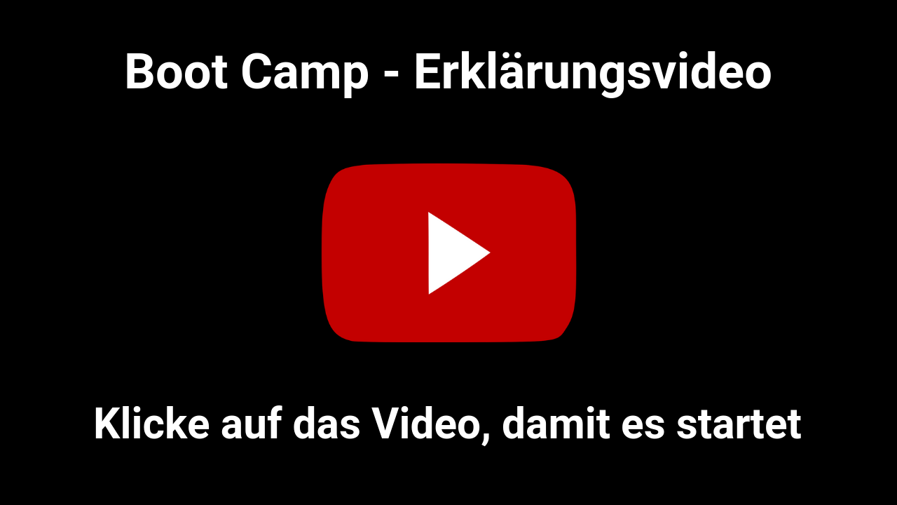 Boot Camp Erklaerungsvideo